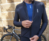 Mens Long Sleeve Jersey: Black / Blue