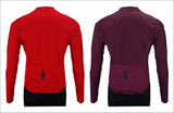 invani cycling long sleeve reversible jersey