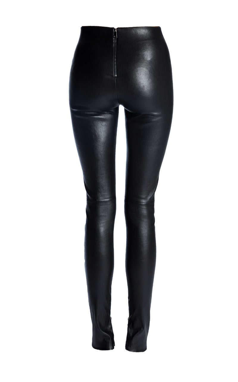 High waist stretch leather leggings - J Phoenix London