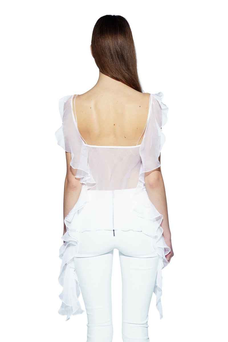 Silk Chiffon butterfly top