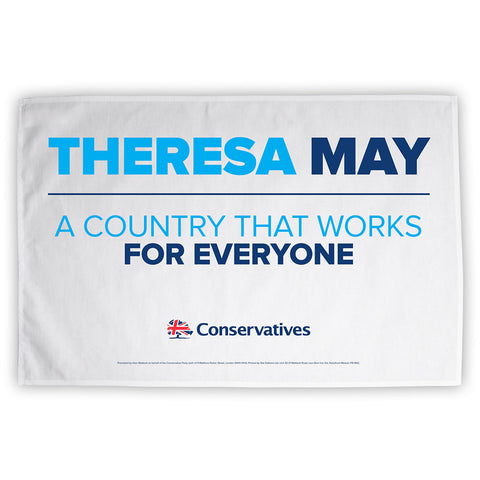 Theresa May - A County That Works For Everyone Limited Edition Tea Towel