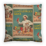 Don't Stand in Lloyd George's Sauce Feather Cushion