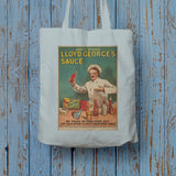 Don't Stand in Lloyd George's Sauce Long Handled Tote Bag (Lifestyle)