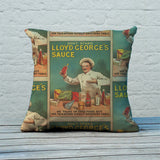 Don't Stand in Lloyd George's Sauce Feather Cushion (Lifestyle)