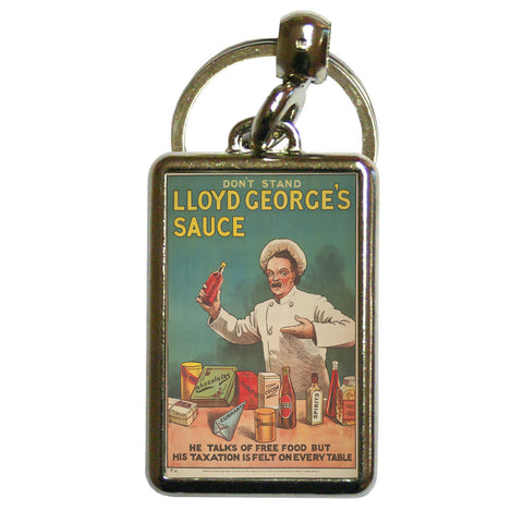 Don't Stand in Lloyd George's Sauce Metal Keyring