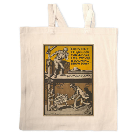 Look out there, or you'll have the whole blooming show down Long Handled Tote Bag