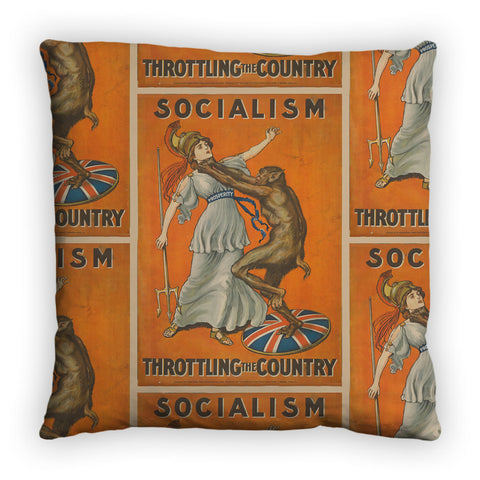 Socialism throttling the country Feather Cushion
