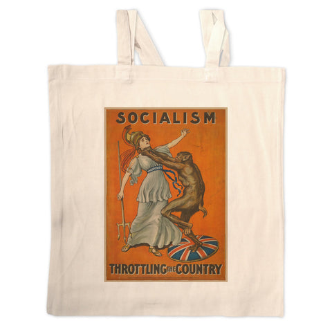 Socialism throttling the country Long Handled Tote Bag
