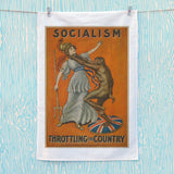 Socialism throttling the country Tea Towel (Lifestyle)