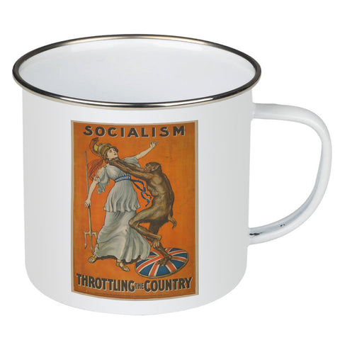 Socialism throttling the country Enamel Mug
