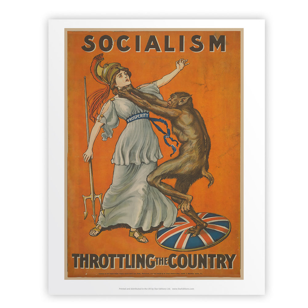 Socialism throttling the country Art Print