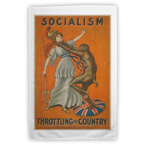 Socialism throttling the country Tea Towel