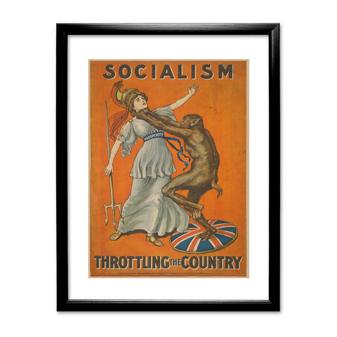 Socialism throttling the country Black Framed Print