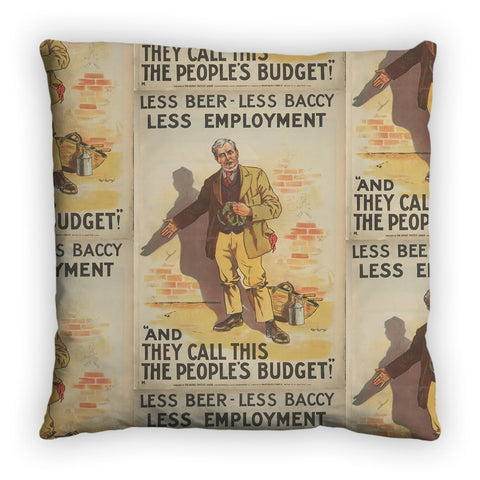 Less beer, less baccy, less employment Feather Cushion
