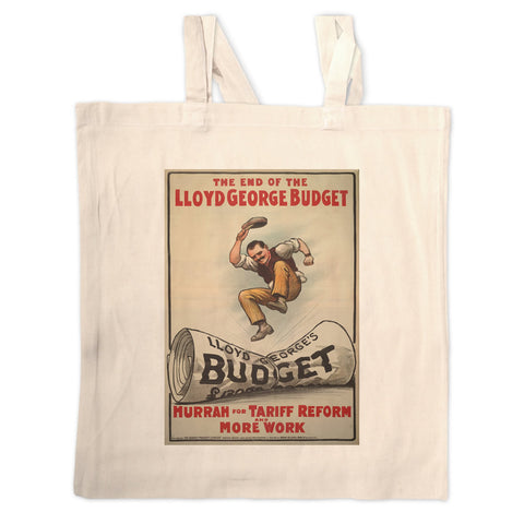 The End of Lloyd George's Budget Long Handled Tote Bag