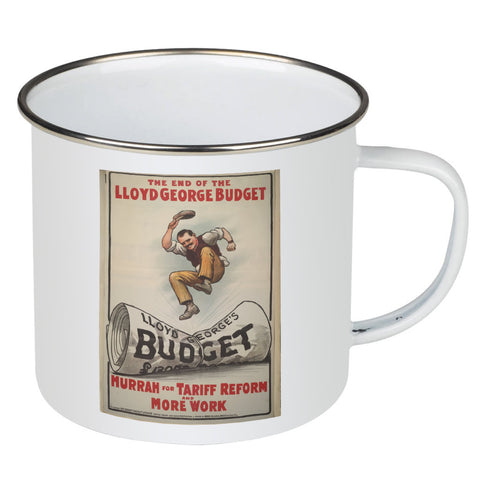 The End of Lloyd George's Budget Enamel Mug