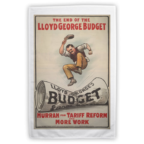 The End of Lloyd George's Budget Tea Towel