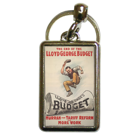 The End of Lloyd George's Budget Metal Keyring