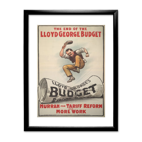 The End of Lloyd George's Budget Black Framed Print
