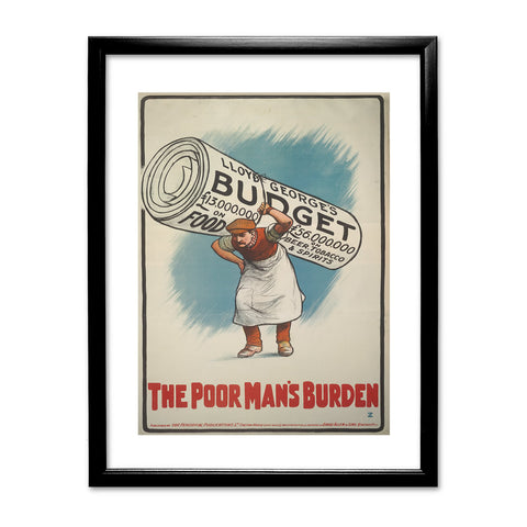 The Poor Man's Burden Black Framed Print