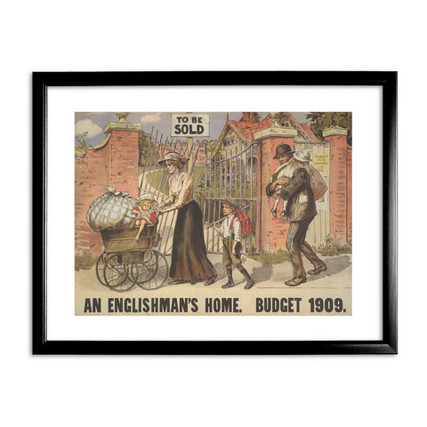 To be sold - an Englishman's Home Black Framed Print