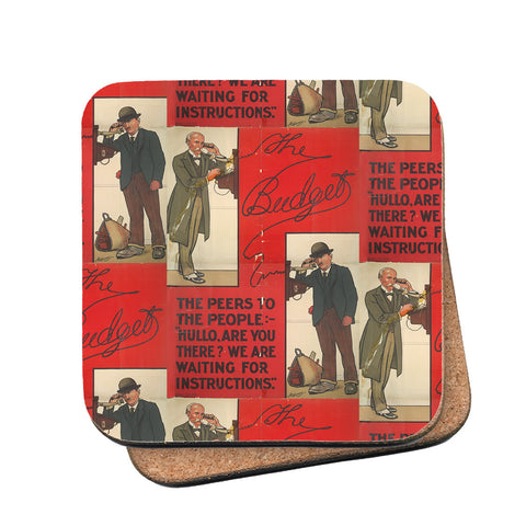 The Peers to the People Cork Coaster