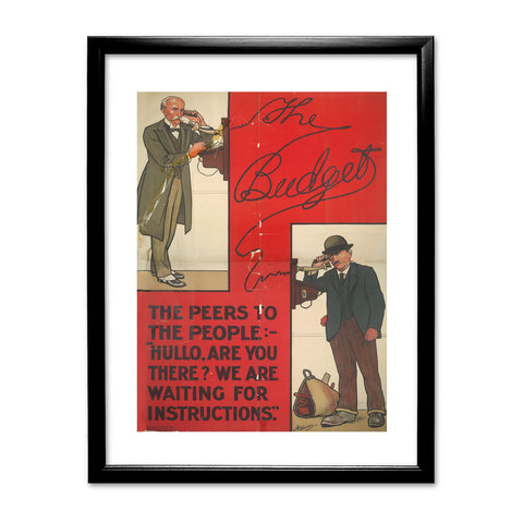 The Peers to the People Black Framed Print