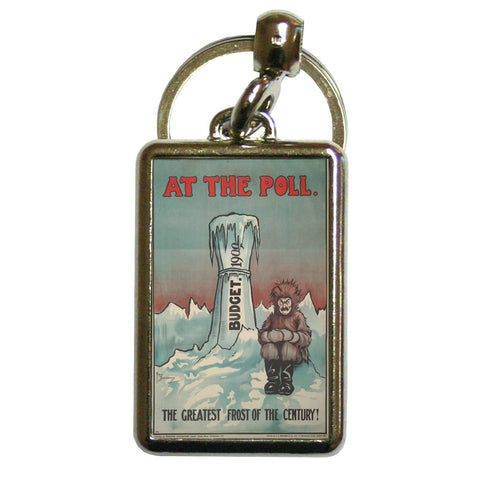 At the Poll Metal Keyring