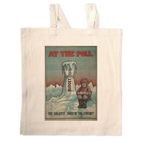 At the Poll Long Handled Tote Bag