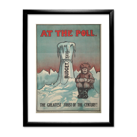 At the Poll Black Framed Print