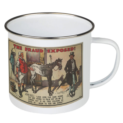The Fraud Exposed Enamel Mug