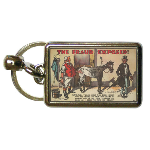 The Fraud Exposed Metal Keyring