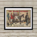 The Fraud Exposed Black Framed Print (Lifestyle)