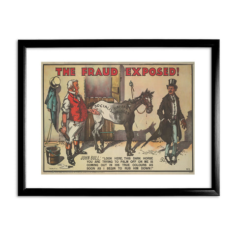 The Fraud Exposed Black Framed Print