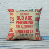 Old-age pensions will be continued by the Unionists Feather Cushion (Lifestyle)