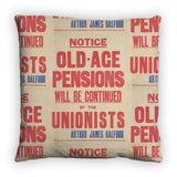 Old-age pensions will be continued by the Unionists Feather Cushion