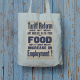 Tariff reform Long Handled Tote Bag (Lifestyle)