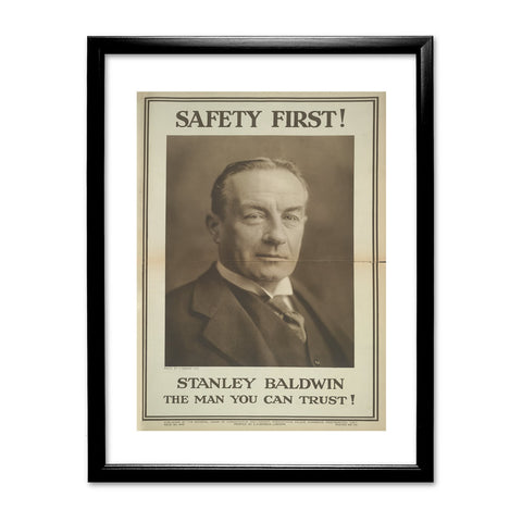 Safety first! Black Framed Print