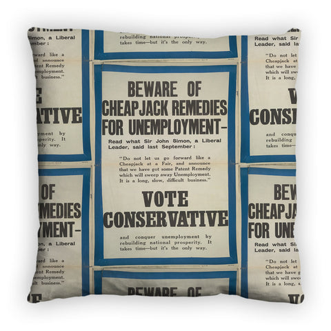 Beware of cheap jack remedies for unemployment Feather Cushion