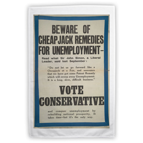 Beware of cheap jack remedies for unemployment Tea Towel