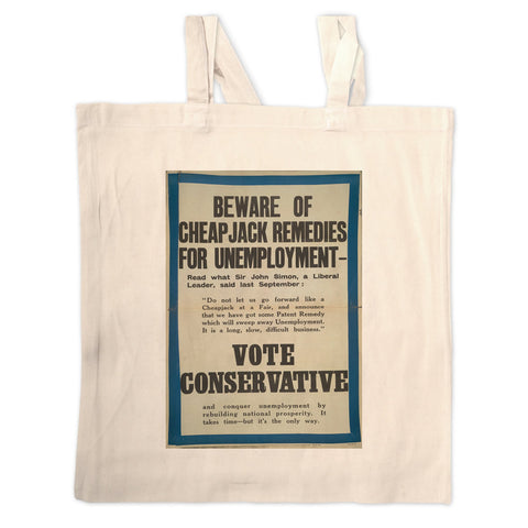 Beware of cheap jack remedies for unemployment Long Handled Tote Bag