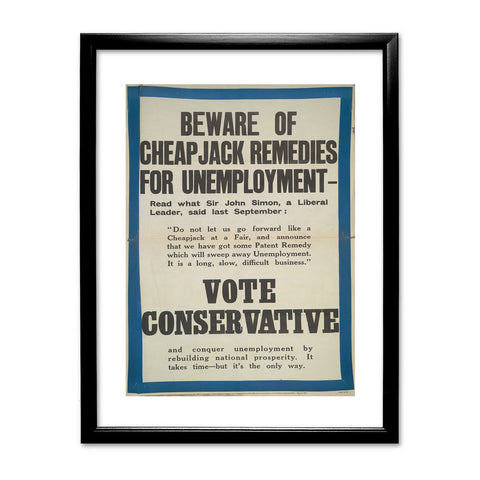 Beware of cheap jack remedies for unemployment Black Framed Print