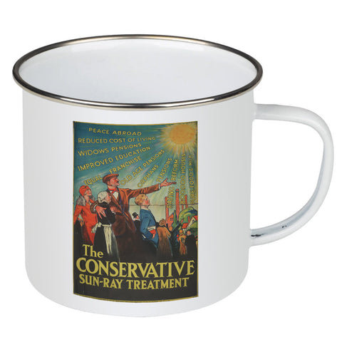 The Conservative Sun-Ray Treatment Enamel Mug