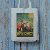 The Conservative Sun-Ray Treatment Long Handled Tote Bag (Lifestyle)