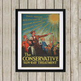 The Conservative Sun-Ray Treatment Black Framed Print (Lifestyle)