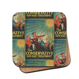 The Conservative Sun-Ray Treatment Cork Coaster
