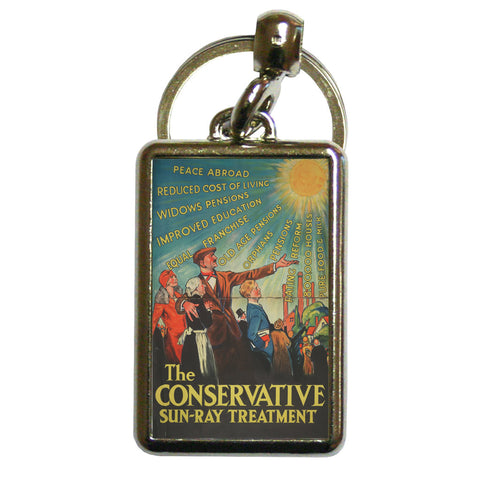 The Conservative Sun-Ray Treatment Metal Keyring