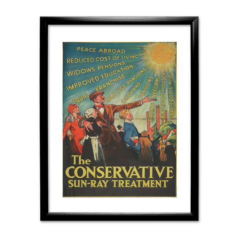 The Conservative Sun-Ray Treatment Black Framed Print