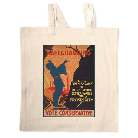 Safeguarding Long Handled Tote Bag