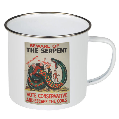 Beware of the Serpent Enamel Mug
